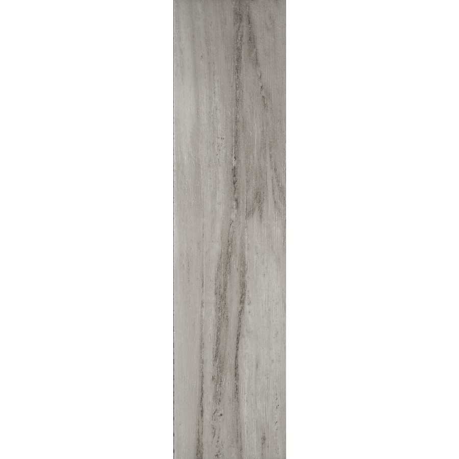 FLOORS 2000 Legno Pietra 14-Pack Grigio Wood Look Porcelain Floor and Wall Tile (Common: 6-in x 24-in; Actual: 23.62-in x 5.9-in)