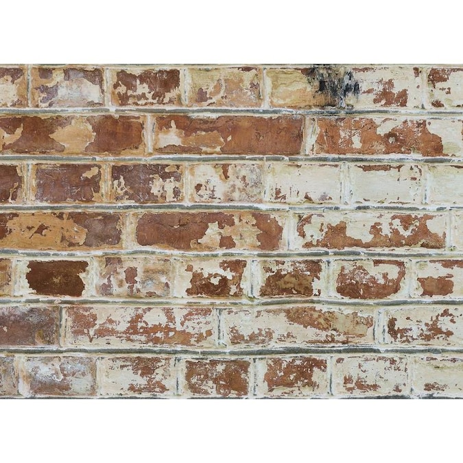 Home Decor Line Old Bricks Kitchen Panel In The Wall Decals Department At Lowes Com