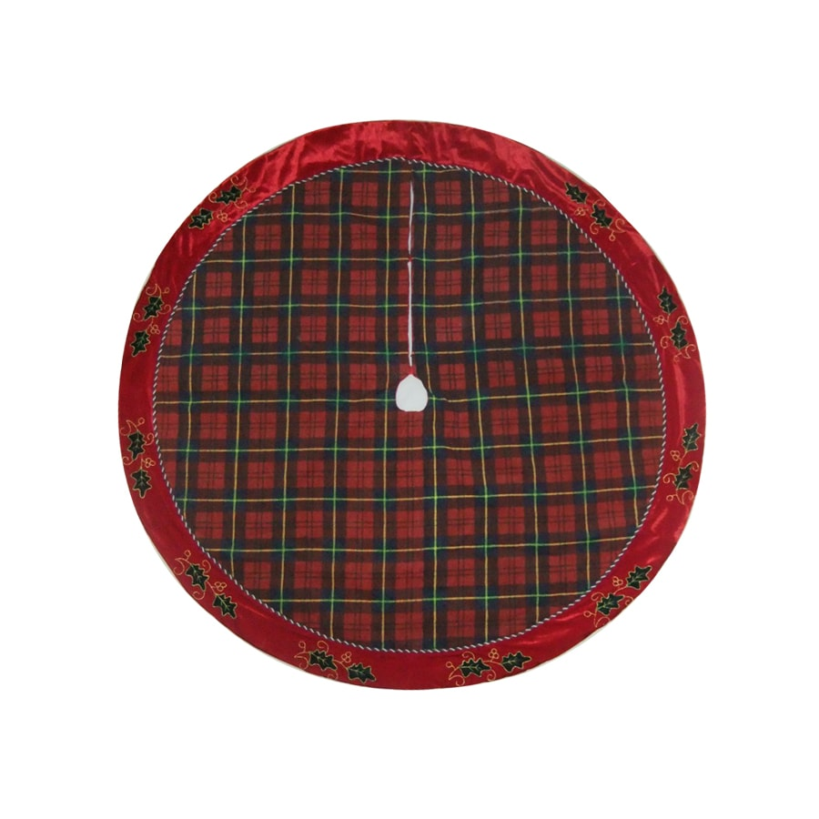 holiday living 56 plaid christmas tree skirt