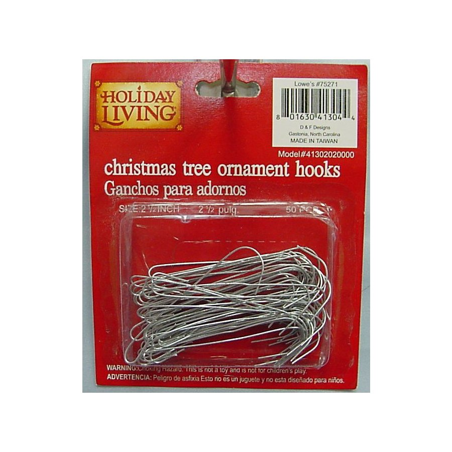 Holiday Living 50-Pack Metal Ornament Hook