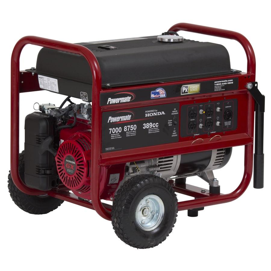 Powermate 7,000 Running Watt Portable Generator With Honda Engine