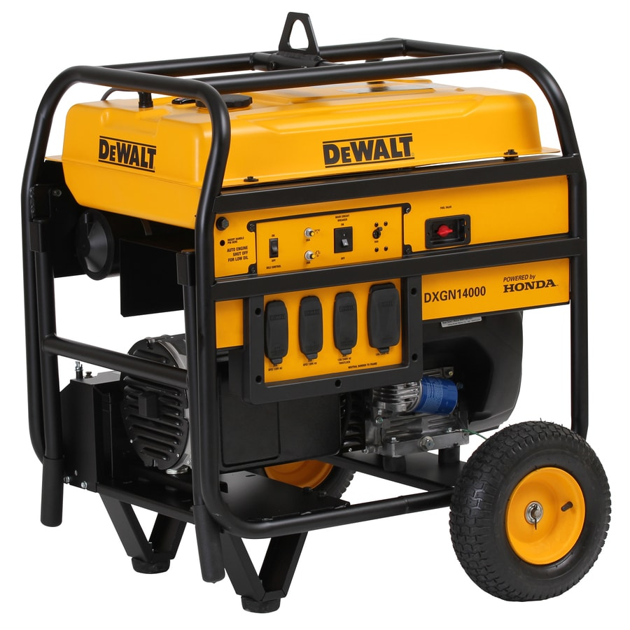 shop dewalt 11 700 running watt portable generator with honda engine rh lowes com
