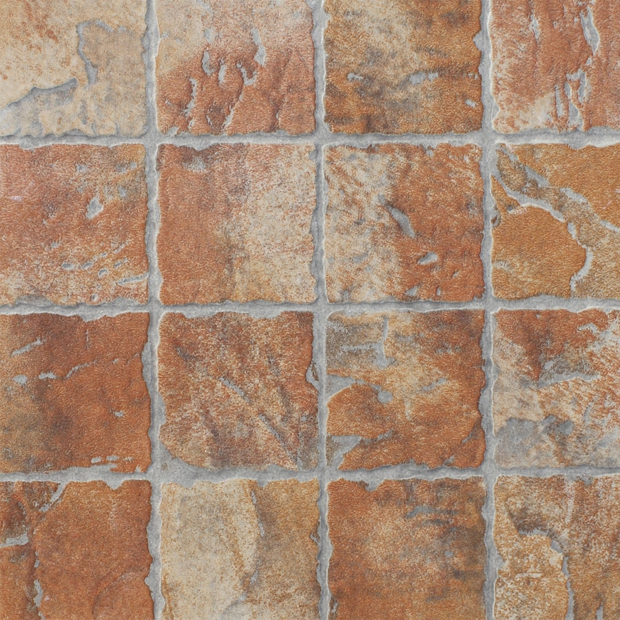 FLOORS 2000 12-Pack Old World Red Glazed Porcelain Indoor/Outdoor Floor Tile (Common: 13-in x 13-in; Actual: 13.44-in x 13.44-in)