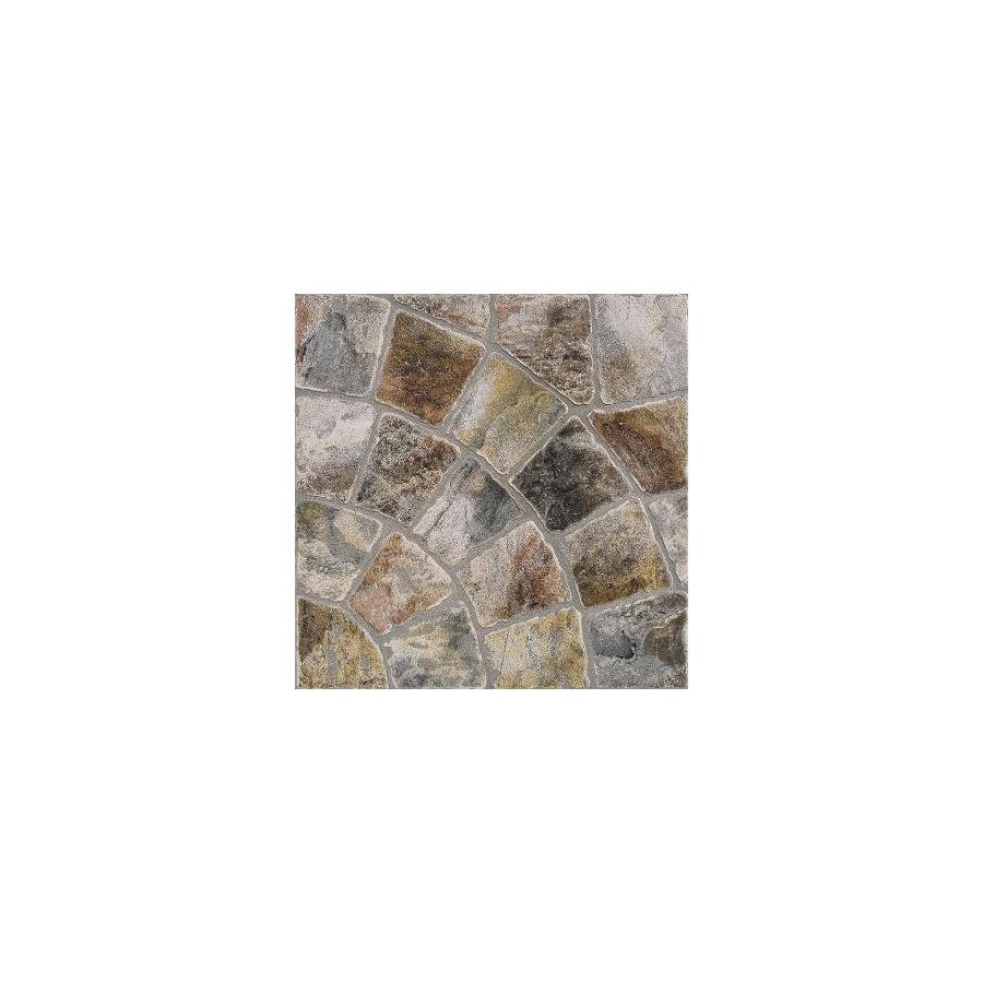 FLOORS 2000 12-Pack 13-in x 13-in Old World Rnd Mix Glazed Porcelain Floor Tile (Actuals 13-in x 13-in)