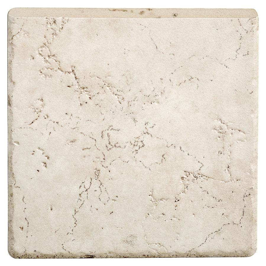 Del Conca Rialto White Thru Body Porcelain Indoor Outdoor Bullnose Trim Common 6