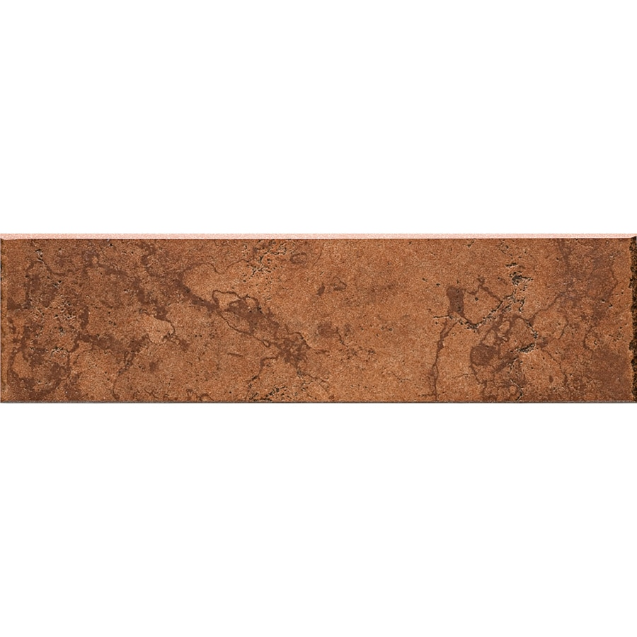 Del Conca Rialto Terra Thru Body Porcelain Bullnose Tile (Common: 3-in x 12-in; Actual: 3.15-in x 11.81-in)