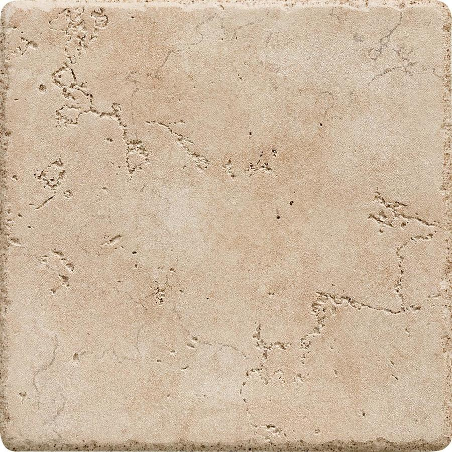 Del Conca Rialto Beige Thru Body Porcelain Bullnose Tile (Common: 6-in x 6-in; Actual: 5.91-in x 5.91-in)
