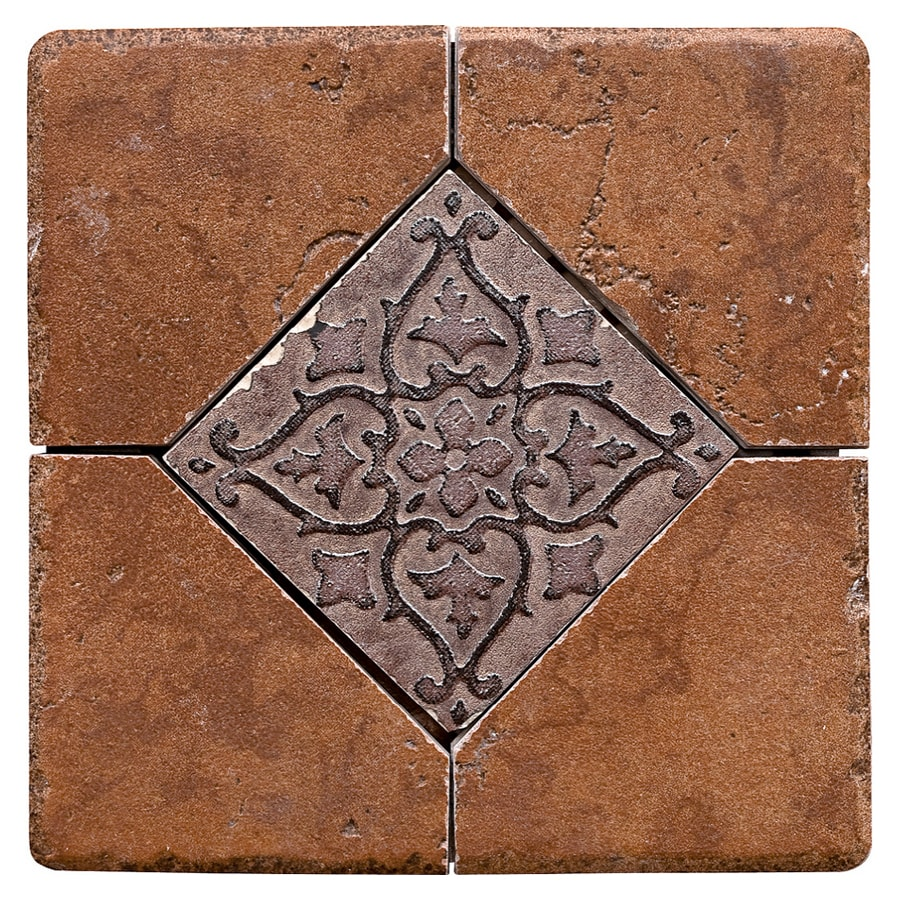 Del Conca Rialto Terra Thru Body Porcelain Square Accent Tile (Common: 6-in x 6-in; Actual: 5.91-in x 5.91-in)