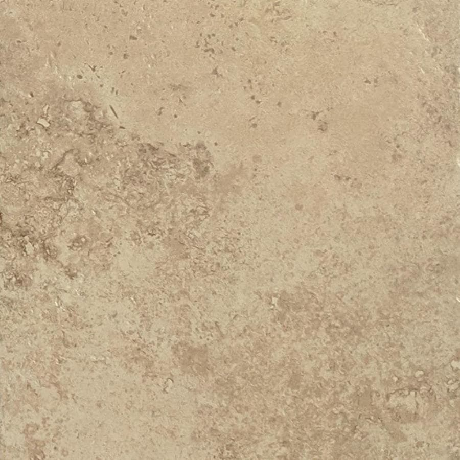 Shop del conca roman stone noce thru body porcelain floor and wall tile common 12 in x 12 in Ceramic stone tile