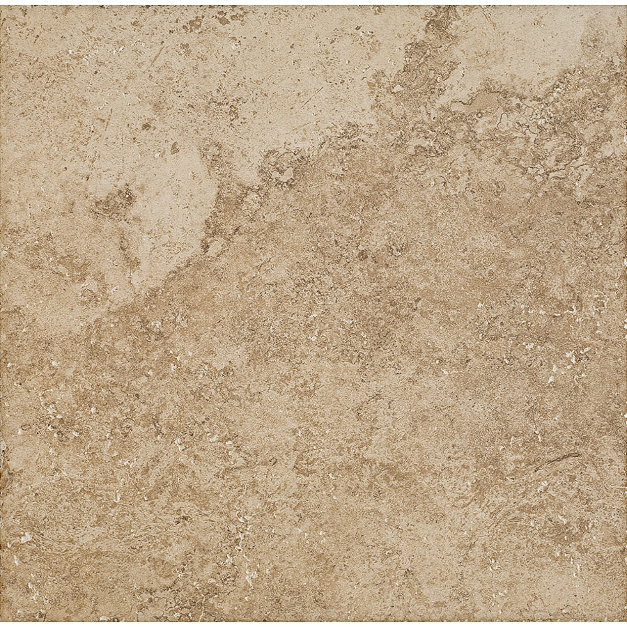 Del Conca Roman Stone Noce Thru Body Porcelain Indoor/Outdoor Floor Tile (Common: 18-in x 18-in; Actual: 17.72-in x 17.72-in)