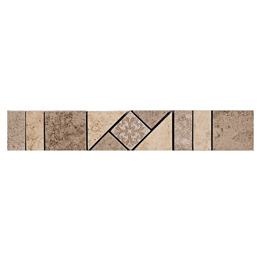 Shop Del Conca 2 In X 12 In Roman Stone Noce Thru Body