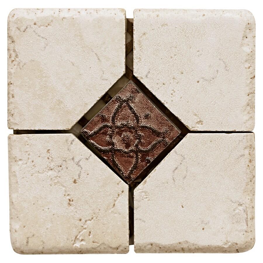 Del Conca 4 X Rialto White Thru Body Porcelain Square Accent Tile