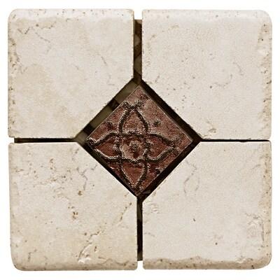 Del Conca 4 X Rialto White Thru Body Porcelain Square