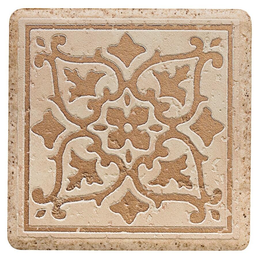 Del Conca 4 In X Rialto Beige Thru Body Porcelain Square Accent