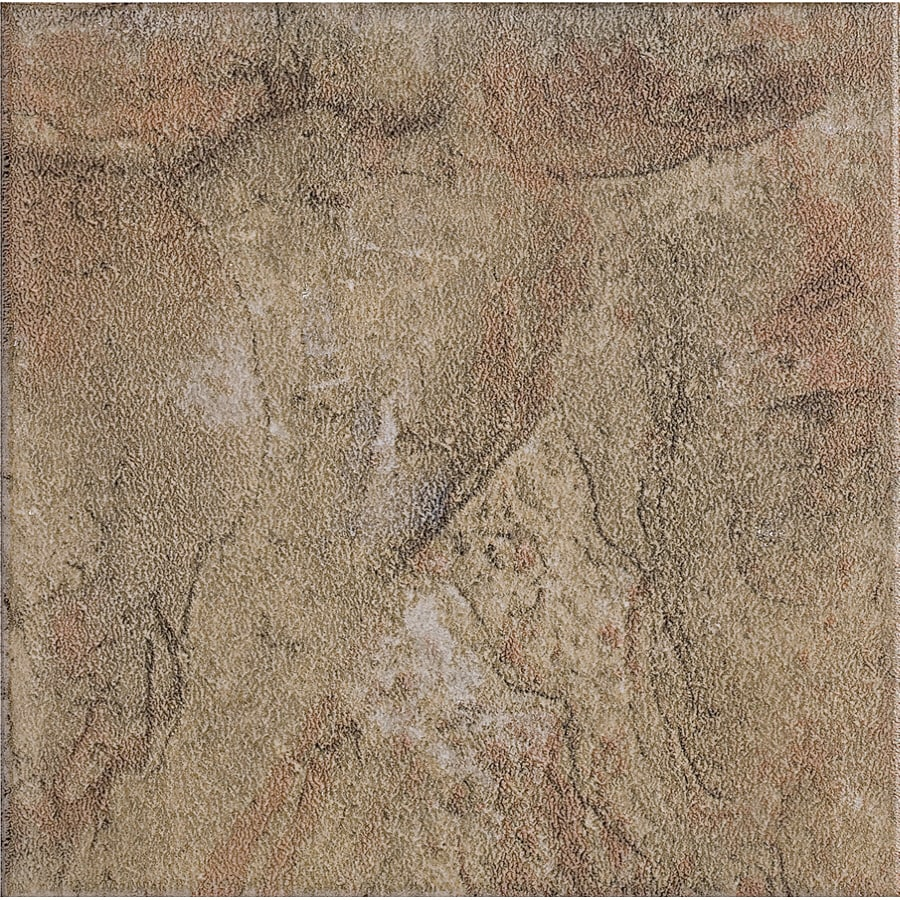 Style Selections 13 In X Canyon Slate Glazed Porcelain Floor Tile