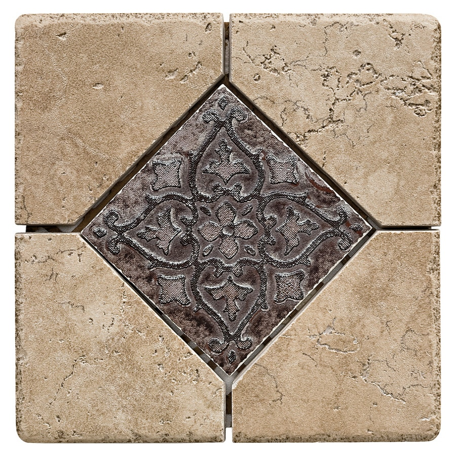Del Conca 6-in x 6-in Rialto Noce Thru Body Porcelain Square Accent Tile