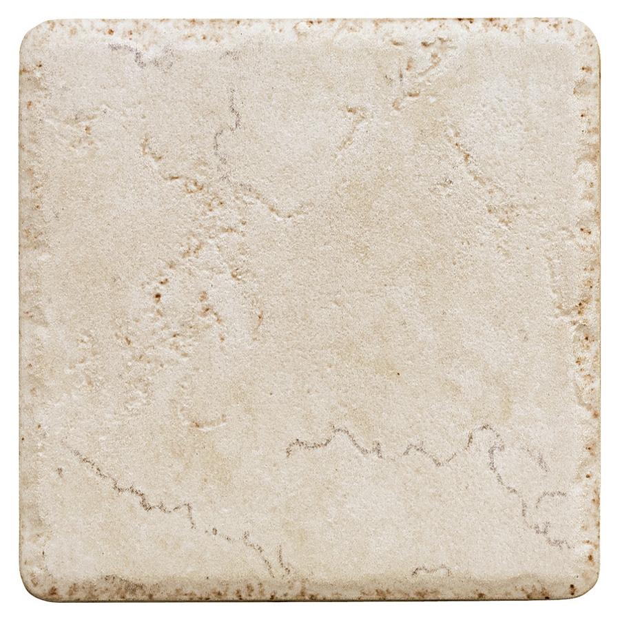 "Del Conca 4"" x 4"" Rialto White Porcelain Wall Tile"