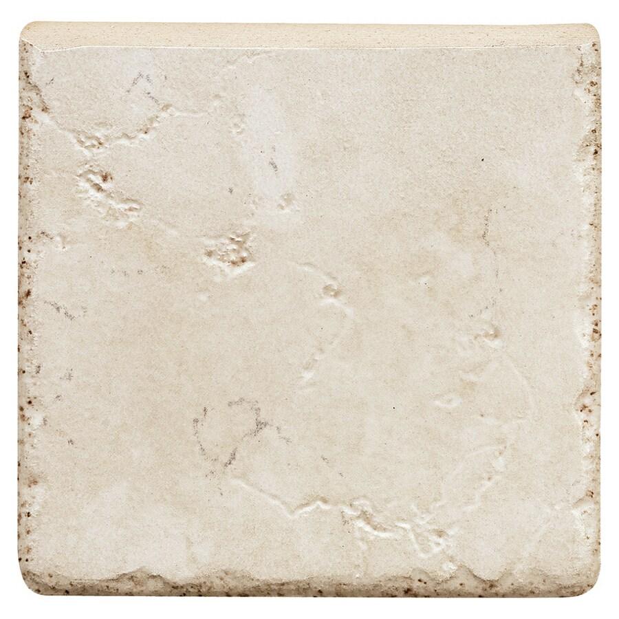 Del Conca 4 X Rialto White Thru Body Porcelain Bullnose Trim