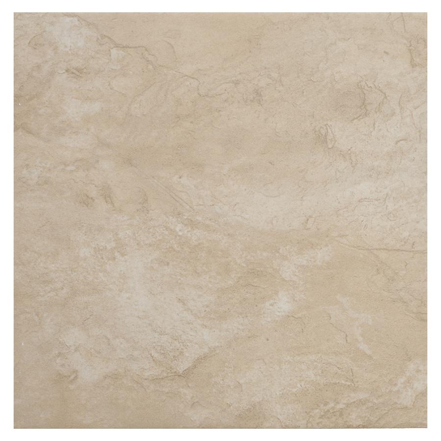 shop del conca 18 x 18 canyon beige glazed porcelain floor tile at. Black Bedroom Furniture Sets. Home Design Ideas