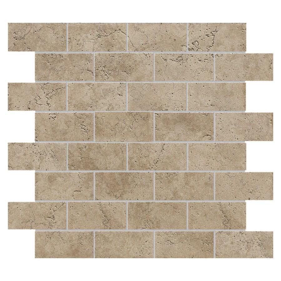 Del Conca 12 X Rialto Noce Mesh Mosaic Unglazed Porcelain Tile