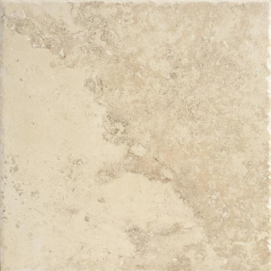Shop del conca roman stone beige thru body porcelain floor and wall tile common 12 in x 12 in Ceramic stone tile