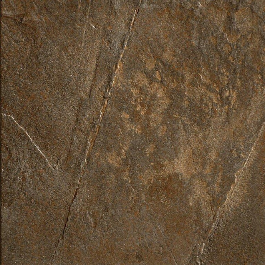Del Conca 18-in x 18-in Rocks Black Thru Body Porcelain Floor Tile