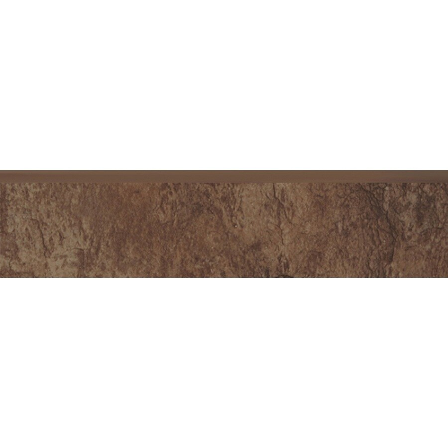 Style Selections Canyon Espresso Porcelain Bullnose Tile (Common: 3-in x 13-in; Actual: 12.99-in x 2.95-in)