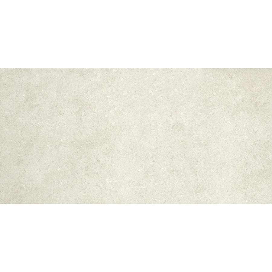 Shop style selections mitte white porcelain floor and wall tile common 12 in x 24 in actual - Lowes floor tiles porcelain ...