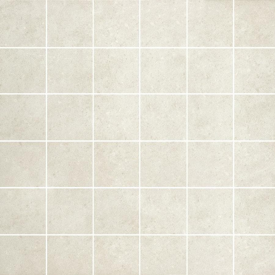 Style Selections Mitte White Porcelain Bullnose Tile (Common: 12-in x 12-in; Actual: 11.81-in x 11.81-in)