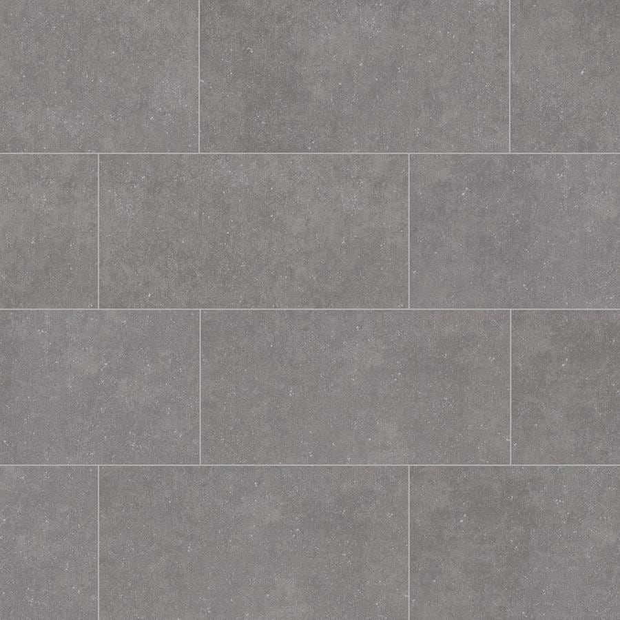 Shop Style Selections Mitte Gray Porcelain Floor And Wall Tile - 12x18 floor tile