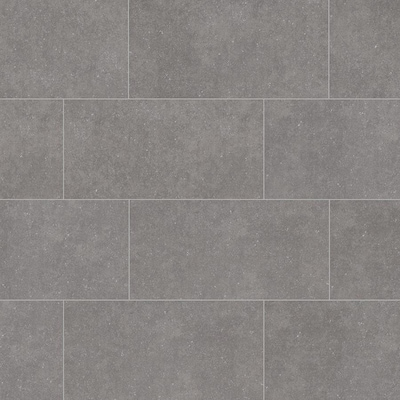 Mitte Gray 12 In X 24 Porcelain Tile Common Actual 11 81 23 62