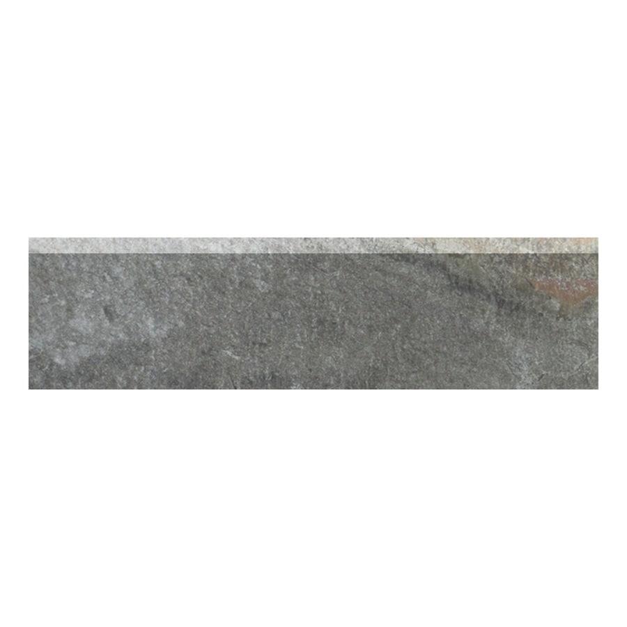 Style Selections Ivetta Black Slate Glazed Porcelain Indoor Outdoor Bullnose Tile Common 3