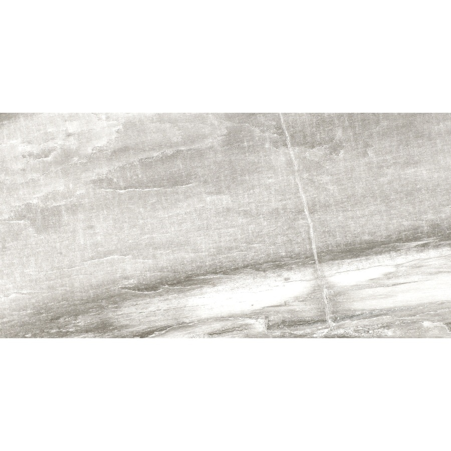 Shop Del Conca Ancient Gray Stone Gray Porcelain Floor And Wall Tile - 2x3 subway tile