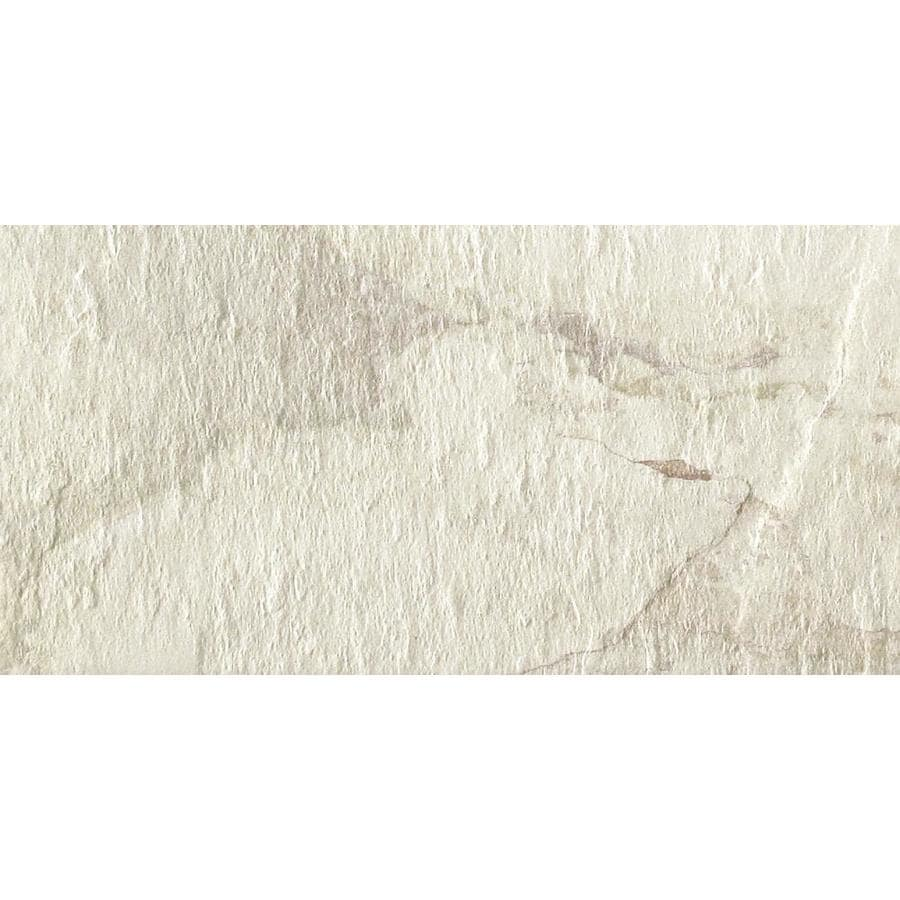 Shop Del Conca Ivetta White Porcelain Floor And Wall Tile Common 12 In X 24 In Actual