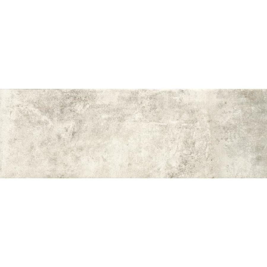 Shop Style Selections Limited White Porcelain Floor And Wall Tile Common 4 In X 12 In Actual