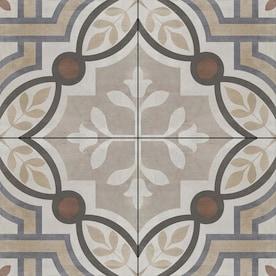 DELLA TORRE Manchester Multicolor 8-in x 8-in Glazed Porcelain Encaustic Tile
