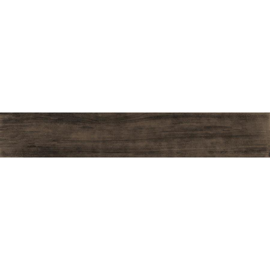 Della Torre Madison Espresso Porcelain Wood Look Floor And Wall Tile Common 1