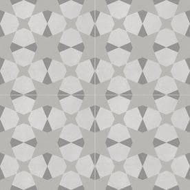 DELLA TORRE Avalon Gray 8-in x 8-in Porcelain Encaustic Floor and Wall Tile (Common: 8-in x 8-in; Actual: 7.78-in x 7.78-in)