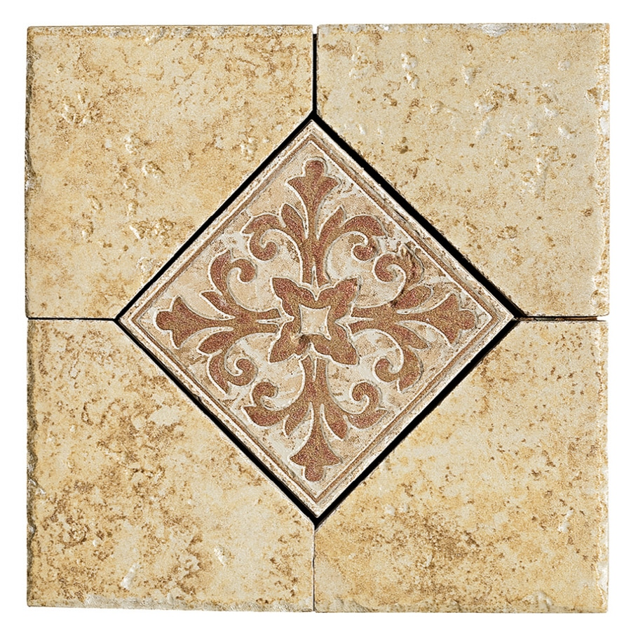 Shop Del Conca X Roman Stone Gold Thru Body Porcelain Square - 6x6 accent tiles