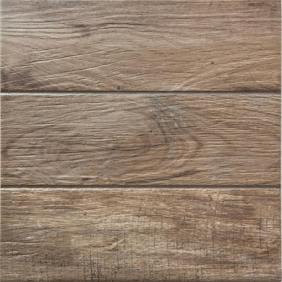 FLOORS 2000 Decking 11-Pack Brown Porcelain Floor and Wall Tile (Common: 13-in x 13-in; Actual: 13.38-in x 13.38-in)
