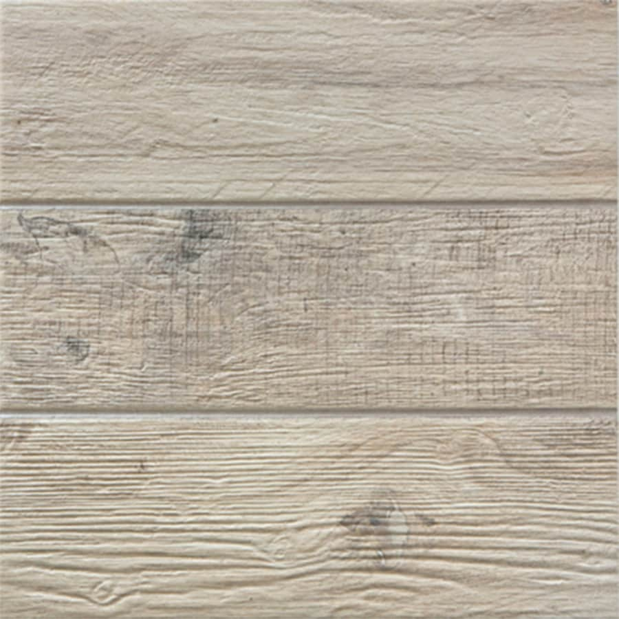 FLOORS 2000 Decking 11-Pack Ivory Porcelain Floor and Wall Tile (Common: 13-in x 13-in; Actual: 13.38-in x 13.38-in)