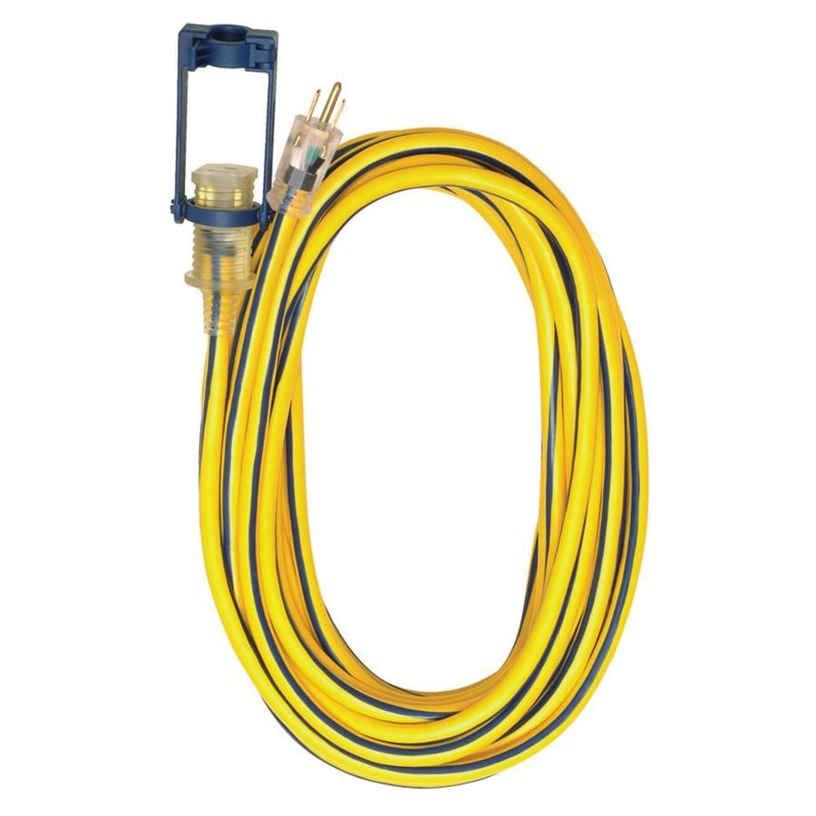 Voltec Industries 25-ft 15-Amp 300-Volt 1-Outlet 12-Gauge Yellow Outdoor Extension Cord