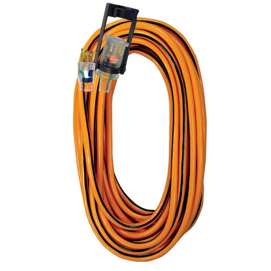 Voltec Industries 25-ft 15-Amp 300-Volt 14-Gauge Orange Outdoor Extension Cord