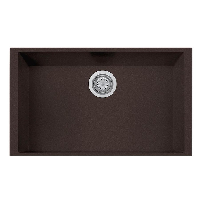 Latoscana One Undermount 30 In X 18 In Brown Single Bowl Corner Install Kitchen Sink All In One Kit In The Kitchen Sinks Department At Lowes Com