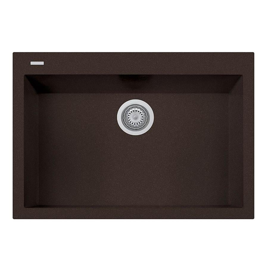 LaToscana One 20-in x 30-in Brown Single-Basin Composite Drop-In 1-Hole Corner Install Commercial/Residential Kitchen Sink All-in-One Kit