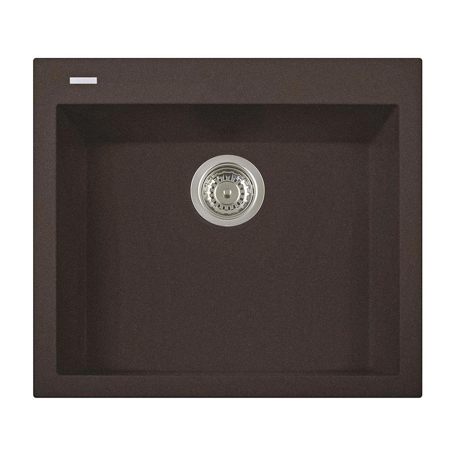 LaToscana One 20-in x 23-in Brown Single-Basin Composite Drop-In 1-Hole Corner Install Commercial/Residential Kitchen Sink All-in-One Kit