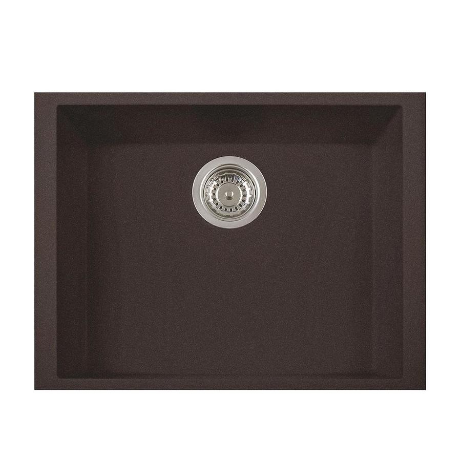 LaToscana One 18-in x 23-in Brown Single-Basin Composite Undermount Corner Install Commercial/Residential Kitchen Sink All-in-One Kit