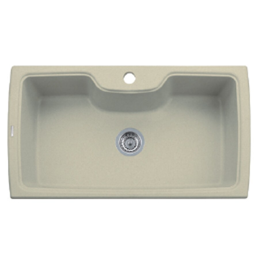 LaToscana Harmony 35-in x 20-in Sahara Single-Basin Granite Drop-in 1-Hole Residential Kitchen Sink All-In-One Kit