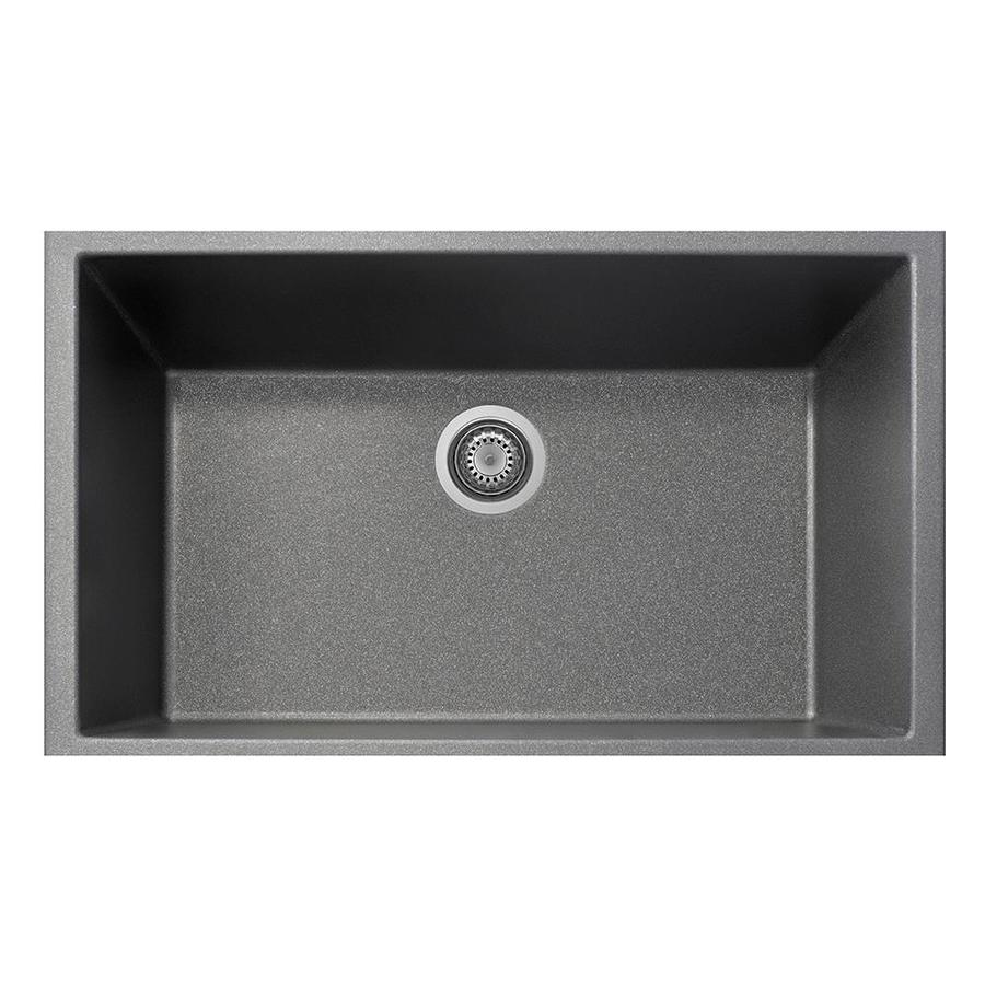 LaToscana One 33 In X 22 In Titanium Single Basin Composite Undermount  Corner
