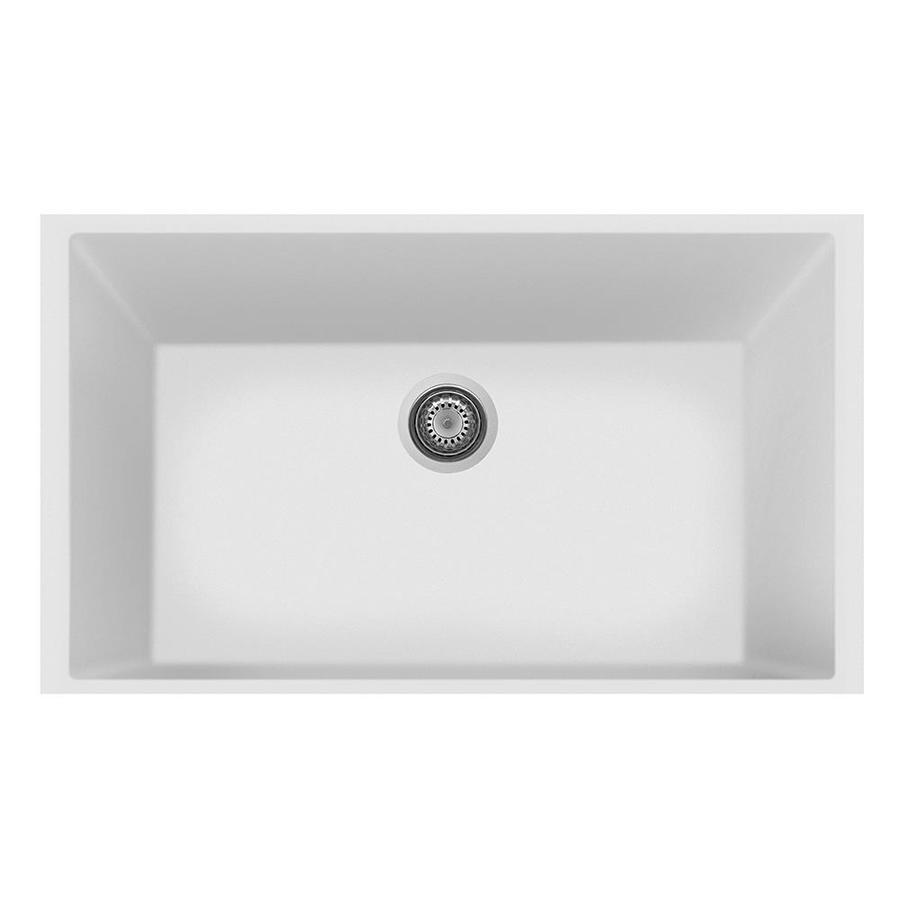 Charmant LaToscana One 33 In X 22 In Milk White Single Basin Composite Undermount